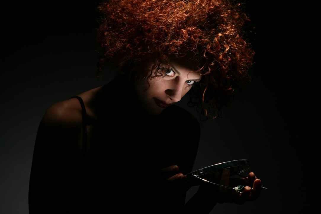 woman girl hair curly